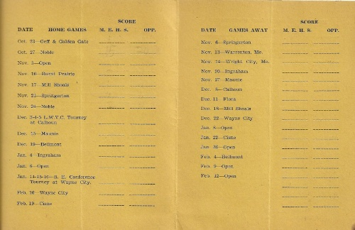 1936 37 Mt. Erie H.S. Basketball Schedule0002