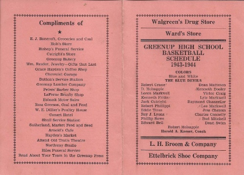 1943 44 Greenup H.S Basketball Schedule0001