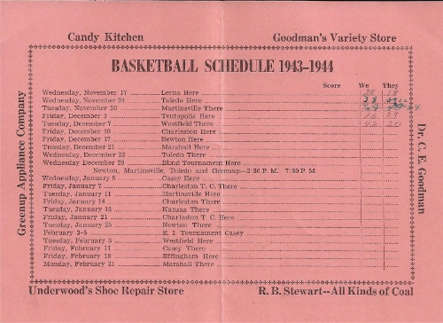 1943 44 Greenup H.S Basketball Schedule0002