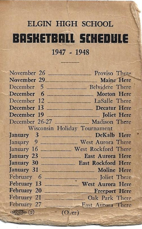 1947 48 Elgin H.S. Basketball Schedule0002