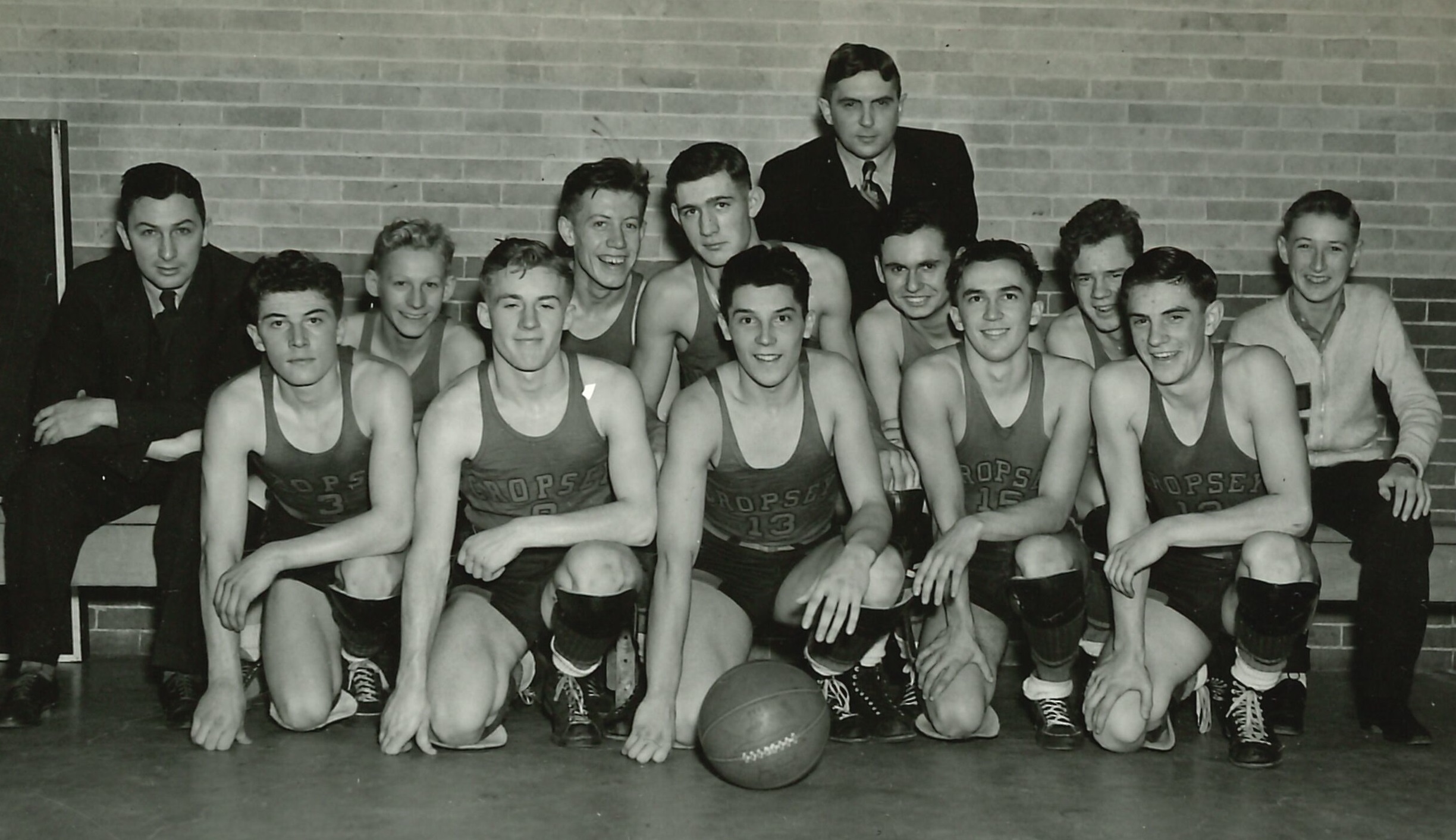 cropsey high school basketball team 1938